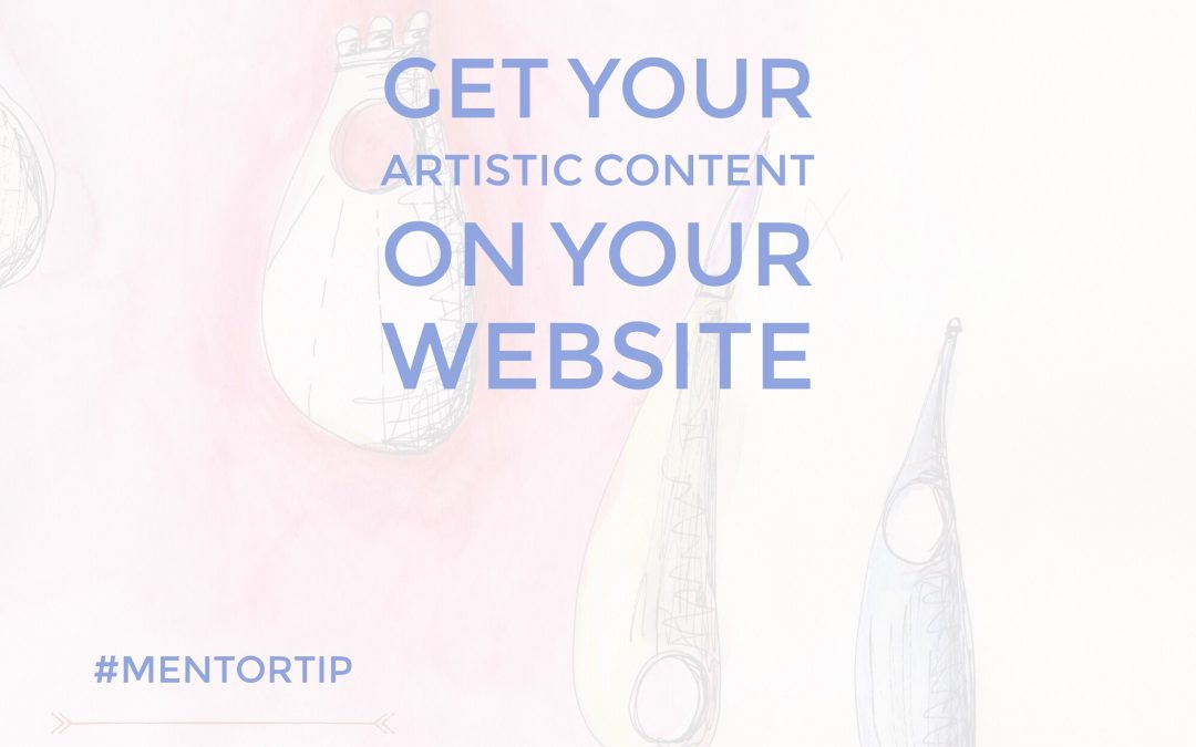 Get Your Artistic Content On Your Website